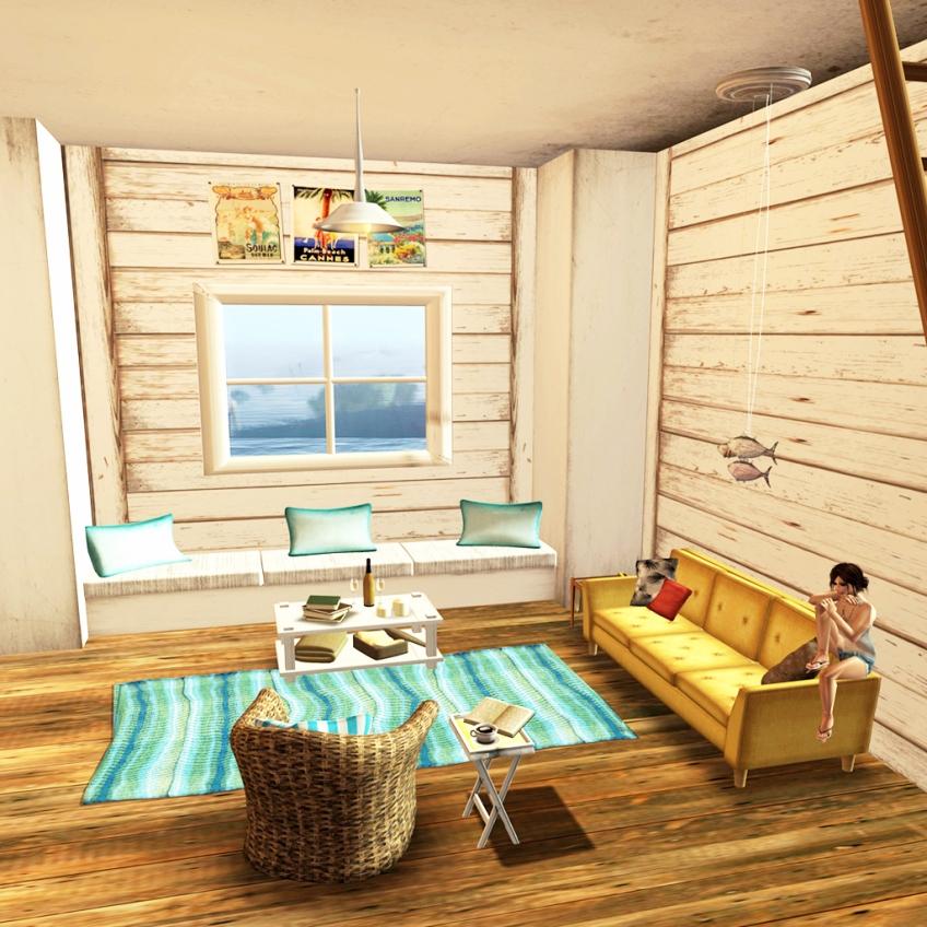 Bazar~ *White Beach Cottage* Living Room   icingonthekake